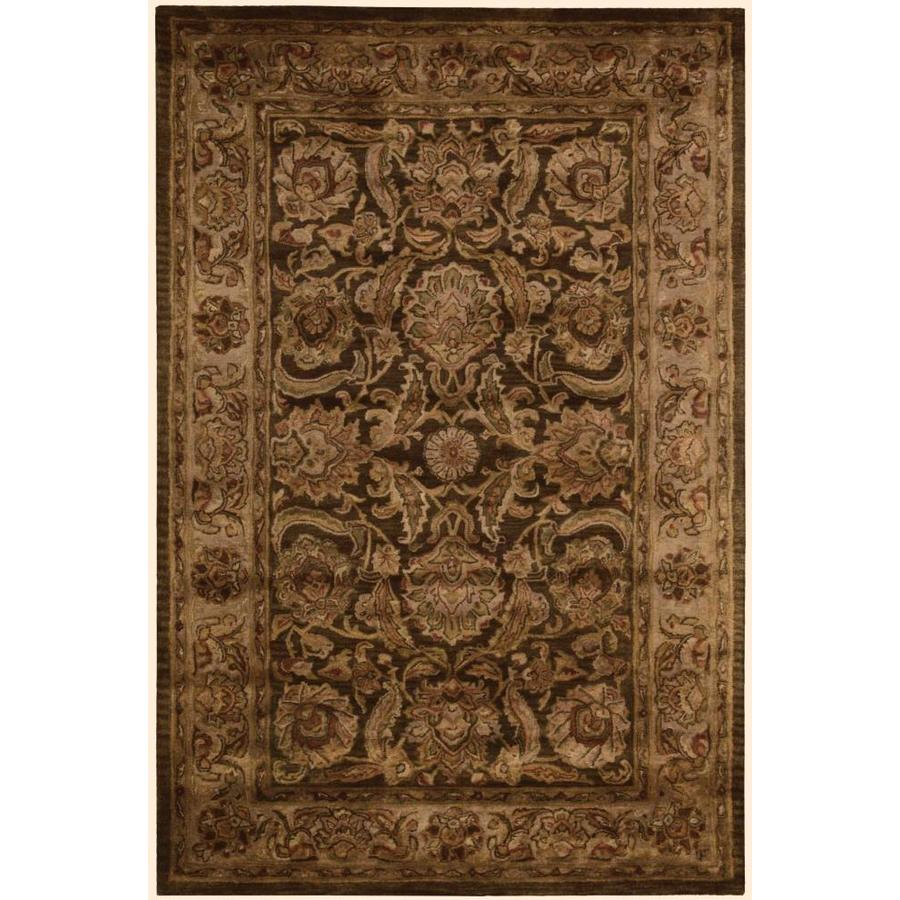 Nourison Jaipur Brown Indoor Handcrafted Area Rug (Common: 3 x 5; Actual: 3.75-ft W x 5.75-ft L x 0.6-ft dia)