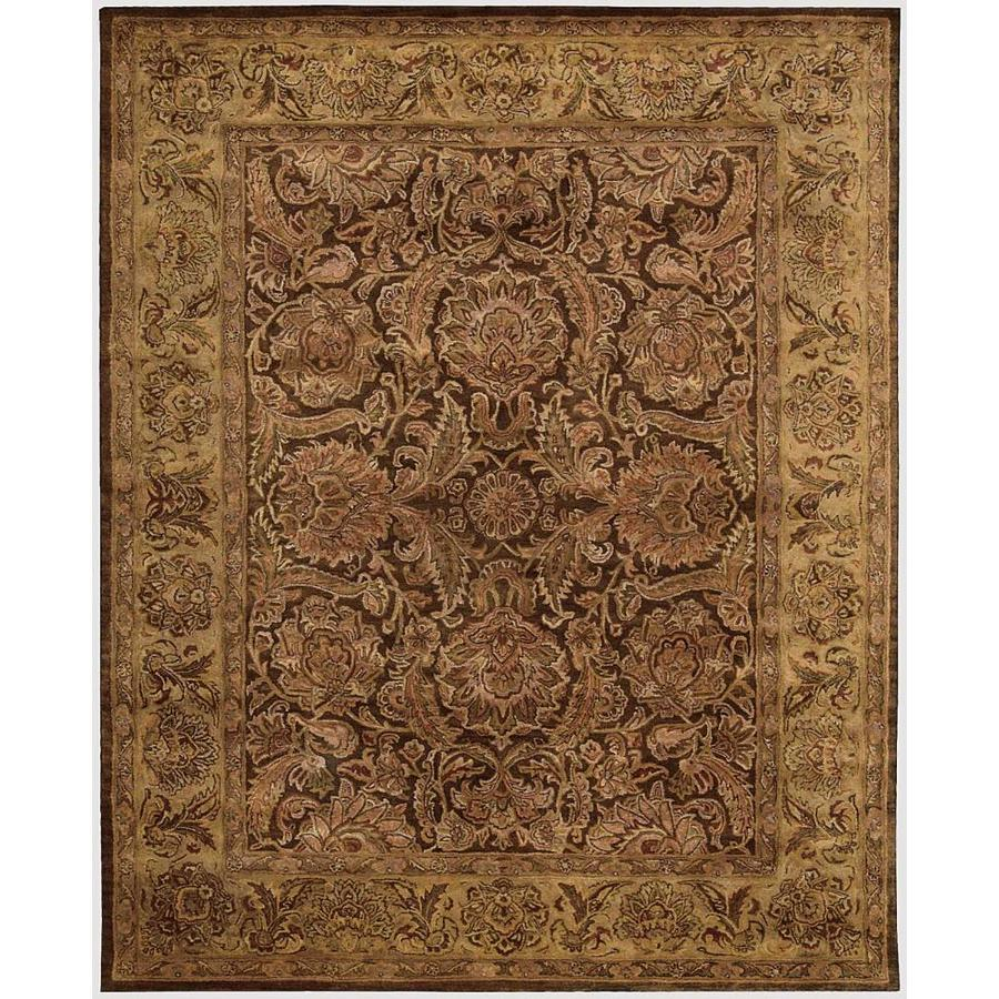 Nourison JAIPUR Brown Rectangular Indoor Hand Tufted Traditional Area Rug (Common: 7 x 9; Actual: 7-ft W x 9-ft L)