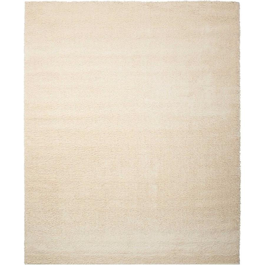 Nourison Brisbane Cream Rectangular Indoor Area Rug (Common: 5 x 8; Actual: 5-ft W x 7-ft L x 1-ft dia)