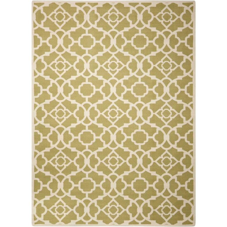 Nourison Wav01/Sun and Shade Garden Rectangular Indoor/Outdoor Area Rug (Common: 5 x 7; Actual: 5.25-ft W x 7.42-ft L x 0.25-ft dia)