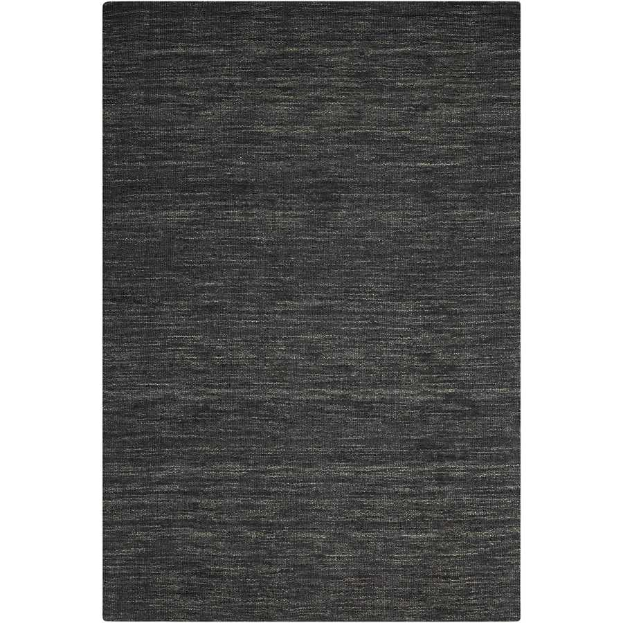 Nourison WAV10 GRAND SUITE Char Rectangular Indoor Hand Made Solid Area Rug (Common: 4 x 6; Actual: 4-ft W x 6-ft L)