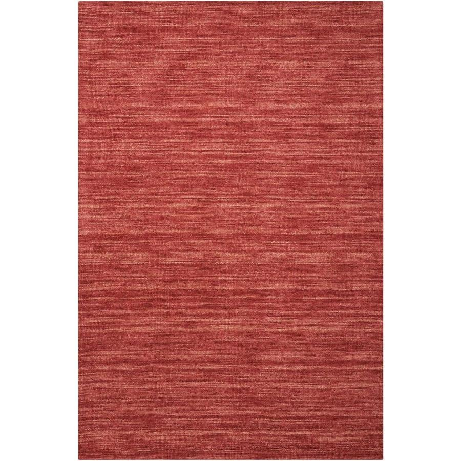 Nourison WAV10 GRAND SUITE Cordial  Indoor Handcrafted Solid Area Rug (Common: 4 x 6; Actual: 4-ft W x 6-ft L)