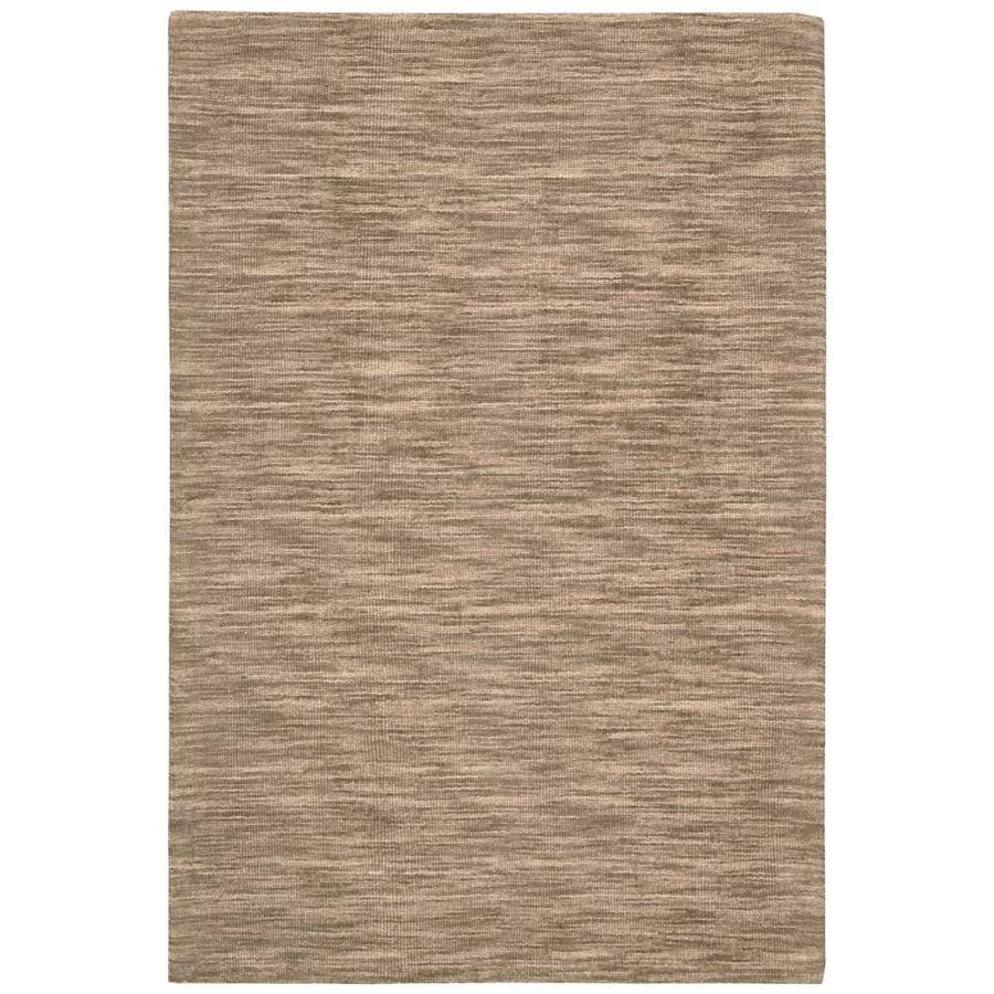 Nourison Wav10 Grand Suite Stone Rectangular Indoor Handcrafted Area Rug (Common: 4 x 6; Actual: 4-ft W x 6-ft L x 0.5-ft dia)