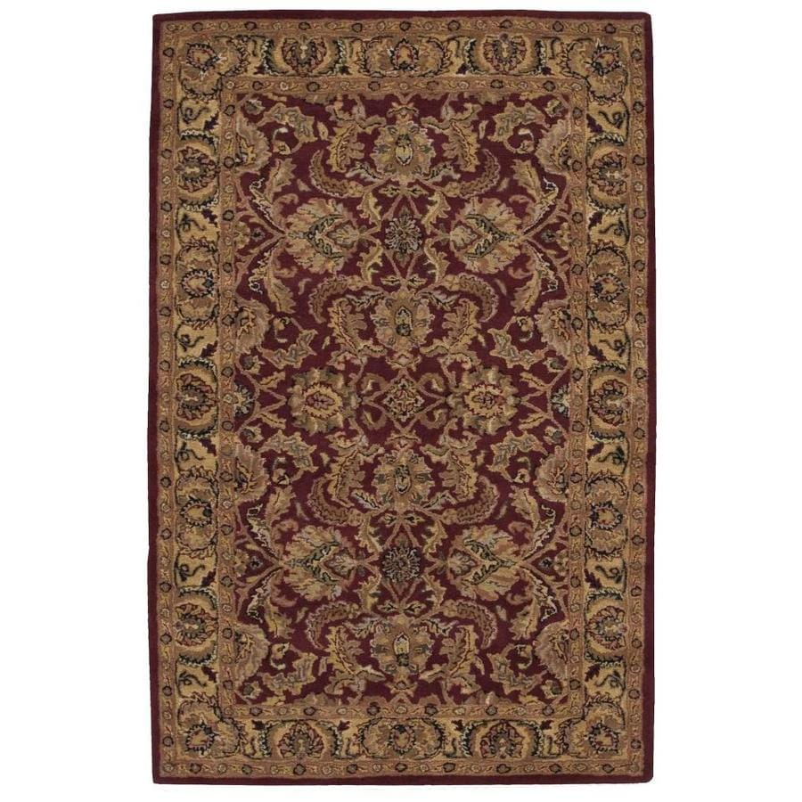 Nourison India House Burgundy Rectangular Indoor Handcrafted Area Rug (Common: 5 x 7; Actual: 5-ft W x 8-ft L x 0.5-ft dia)