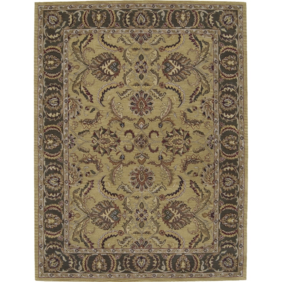 Nourison India House Rectangular Yellow Tufted Area Rug