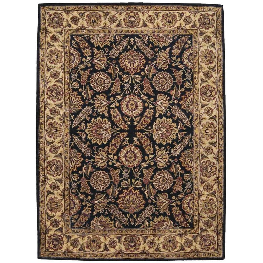 Nourison Jaipur Black Rectangular Indoor Handcrafted Area Rug (Common: 8 x 11; Actual: 8.25-ft W x 11.5-ft L x 0.75-ft dia)