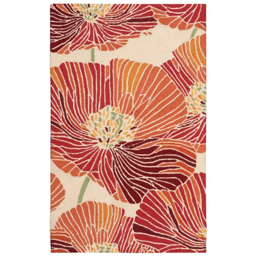 Nourison Fantasy Sunset Indoor Handcrafted Area Rug (Common: 3 x 4; Actual: 2.5-ft W x 4-ft L x 0.5-ft dia)
