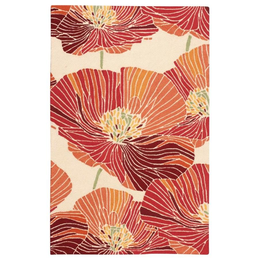 Nourison Fantasy Sunset Rectangular Indoor Handcrafted Area Rug (Common: 3 x 5; Actual: 3.5-ft W x 5.5-ft L x 0.5-ft dia)