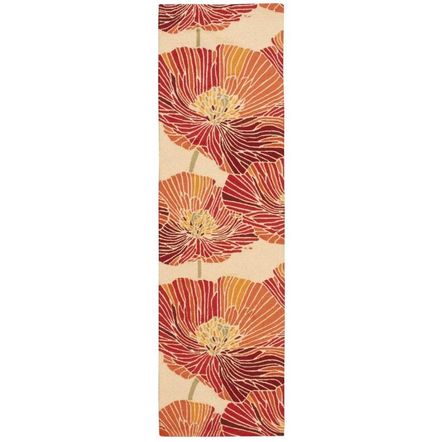 Nourison Fantasy Sunset Rectangular Indoor Handcrafted Area Rug (Common: 2 x 7; Actual: 2.25-ft W x 8-ft L x 0.5-ft dia)