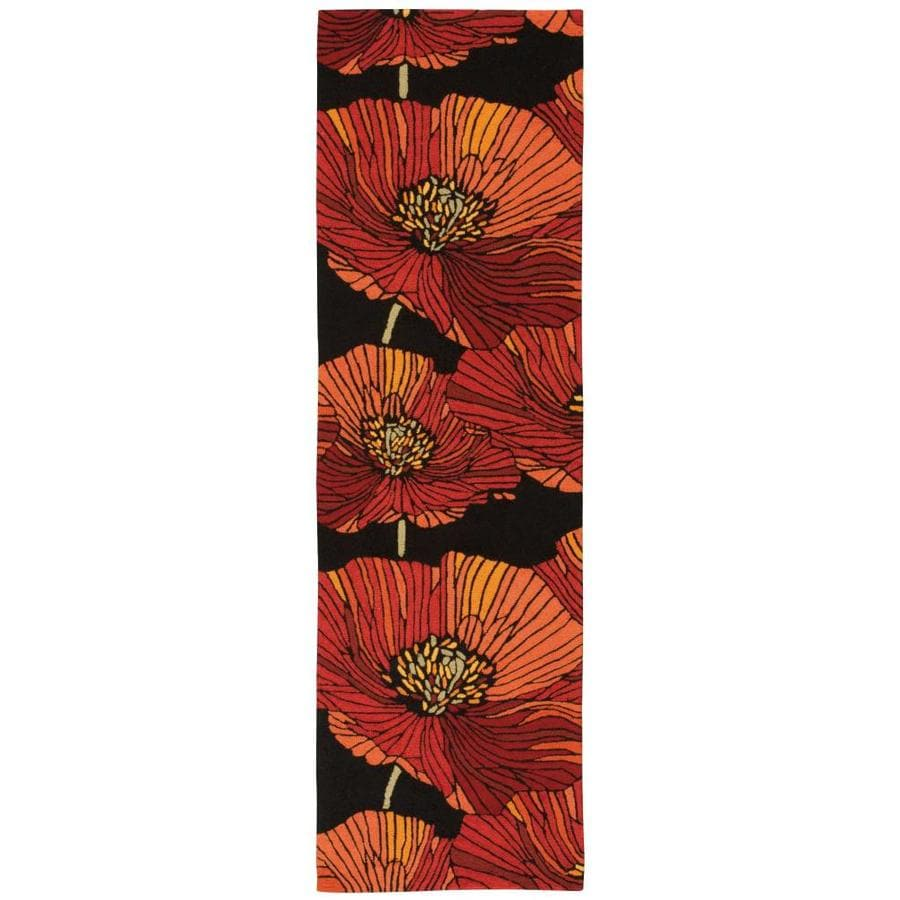 Nourison Fantasy Black Handcrafted Area Rug (Common: 2 x 7; Actual: 2.25-ft W x 8-ft L)
