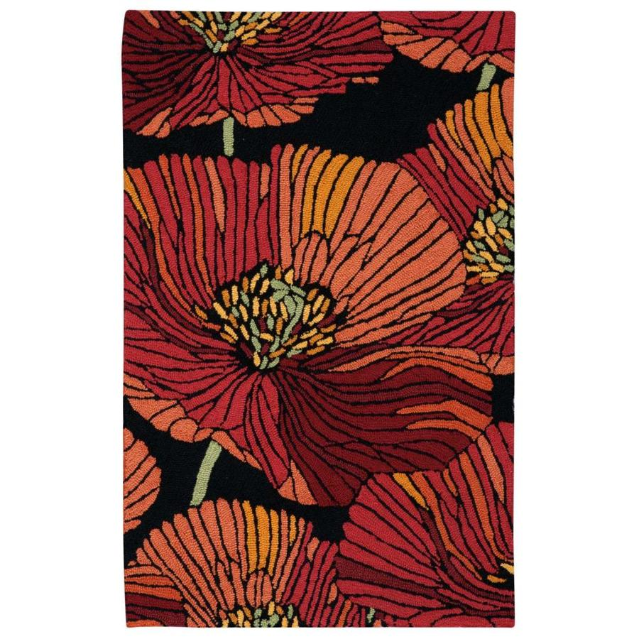 Nourison Fantasy Black Handcrafted Area Rug (Common: 3 x 4; Actual: 2.5-ft W x 4-ft L)