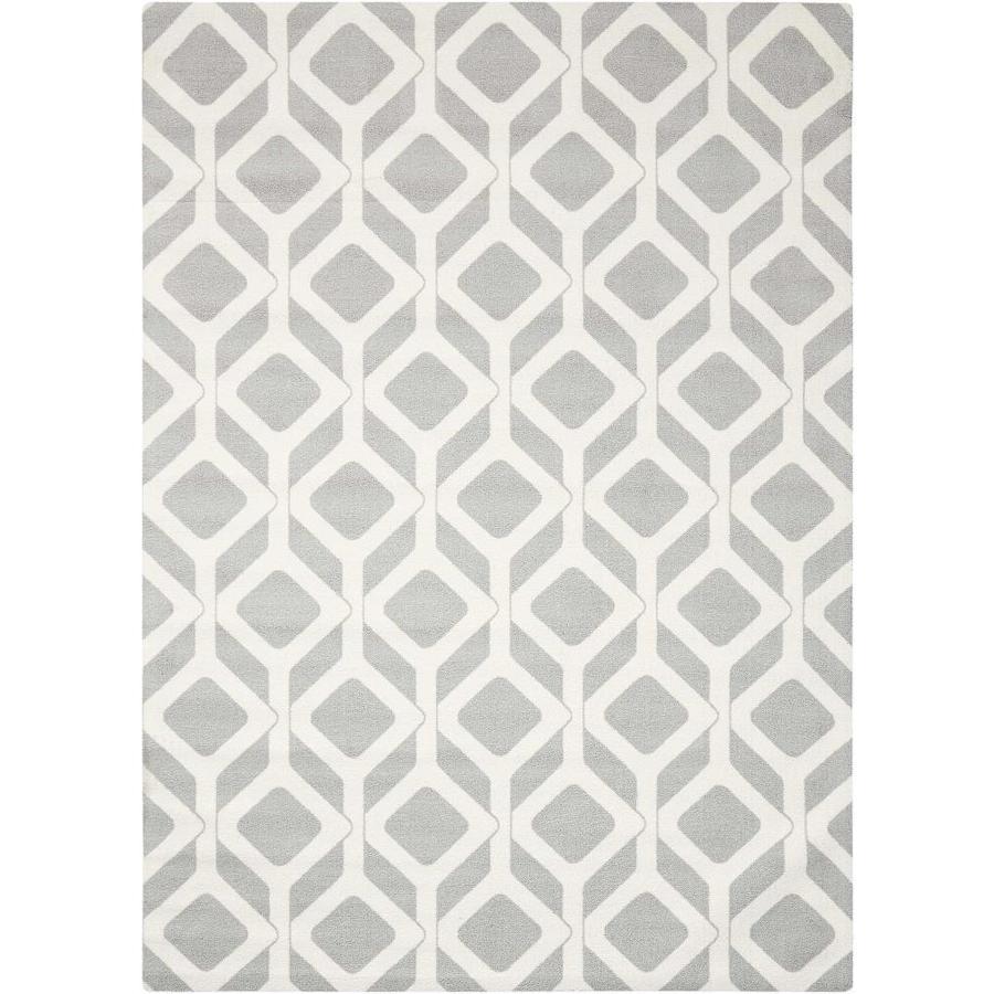 Nourison Enhance Gray Indoor Area Rug (Common: 5 x 8; Actual: 5-ft W x 7-ft L x 0.25-ft dia)