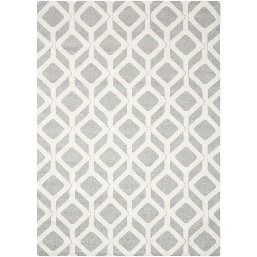 Nourison Enhance Gray Indoor Area Rug (Common: 8 x 10; Actual: 8-ft W x 10-ft L)
