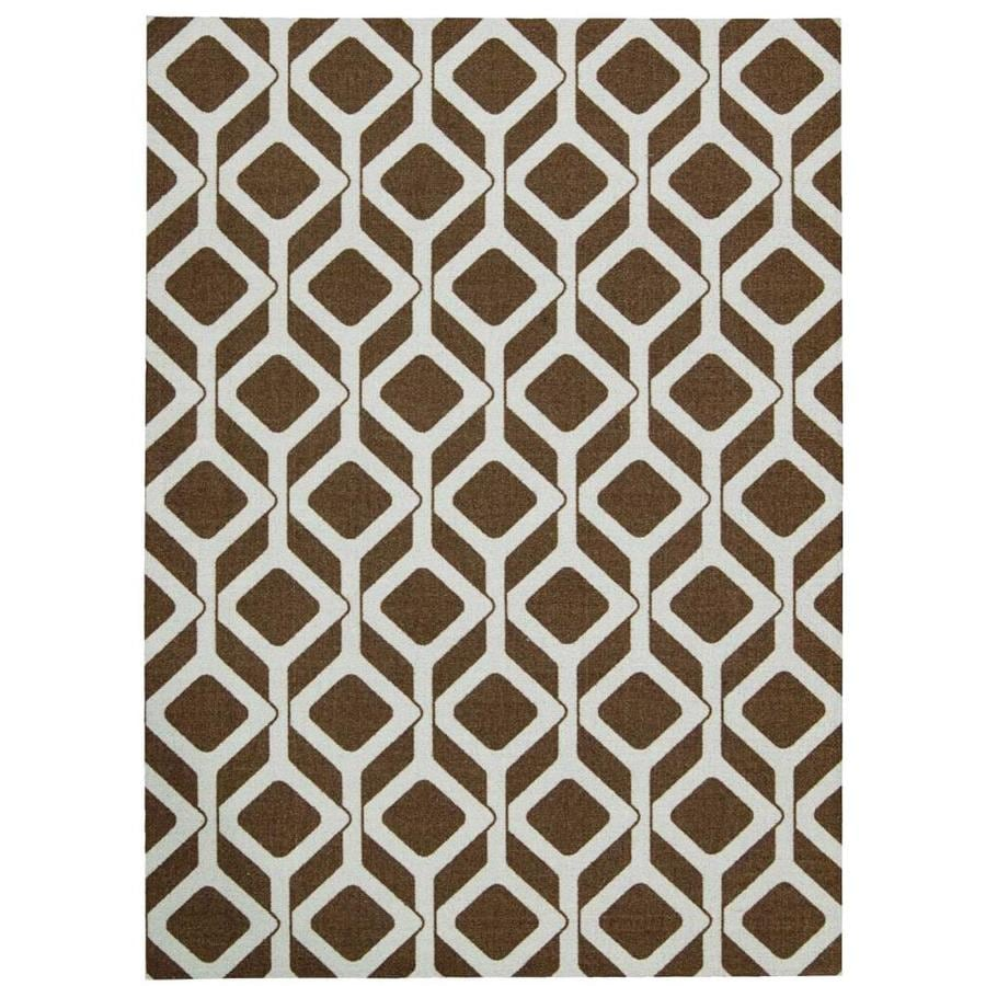 Nourison Enhance Choclate/Blue Indoor Area Rug (Common: 4 x 6; Actual: 4-ft W x 6-ft L x 0.25-ft dia)