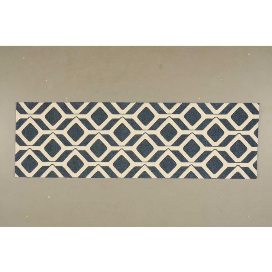 Nourison Enhance Cadet Blue Rectangular Indoor Area Rug (Common: 3 x 4; Actual: 2.5-ft W x 4-ft L x 0.25-ft dia)