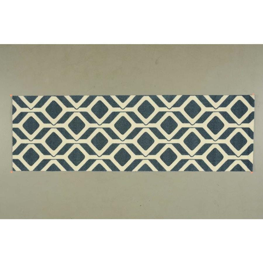 Nourison Enhance Cadet Blue Rectangular Indoor Area Rug (Common: 3 x 8; Actual: 2.5-ft W x 8-ft L x 0.25-ft dia)
