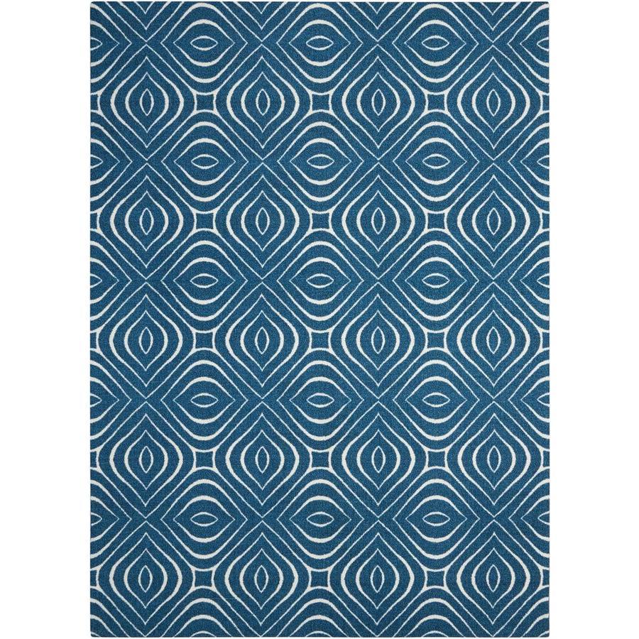 Nourison Enhance Cadet Blue Rectangular Indoor Area Rug (Common: 3 x 8; Actual: 2.5-ft W x 8-ft L x 0.25-ft dia)