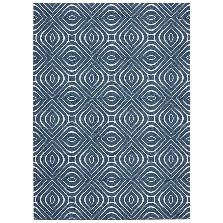 Nourison Enhance Cadet Blue Indoor Area Rug (Common: 4 x 6; Actual: 4-ft W x 6-ft L x 0.25-ft dia)