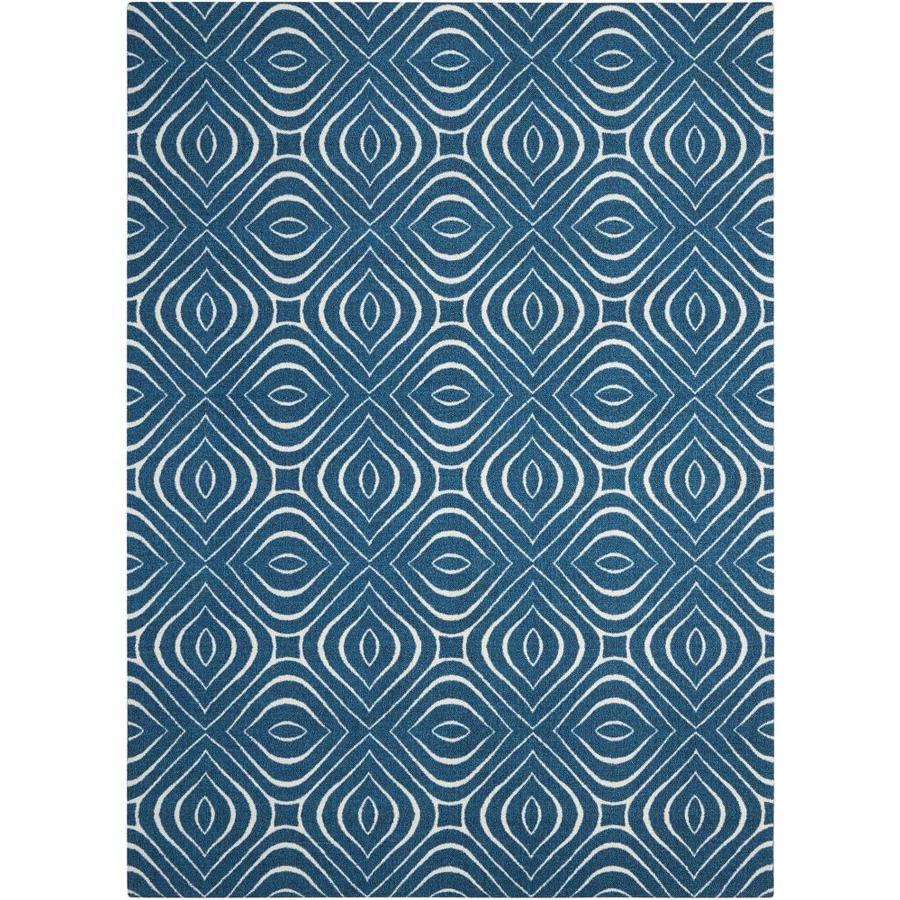 Nourison Enhance Cadet Blue Indoor Area Rug (Common: 8 x 10; Actual: 8-ft W x 10-ft L)