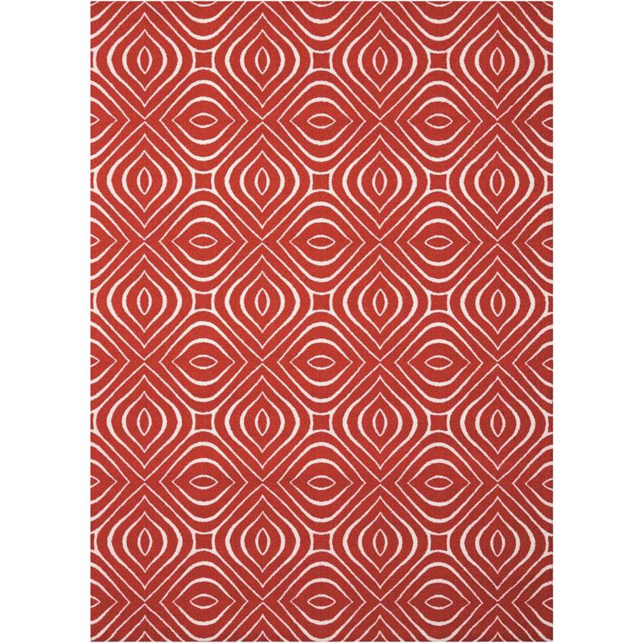 Nourison Enhance Paprika Rectangular Indoor Area Rug (Common: 5 x 8; Actual: 5-ft W x 7-ft L x 0.25-ft dia)
