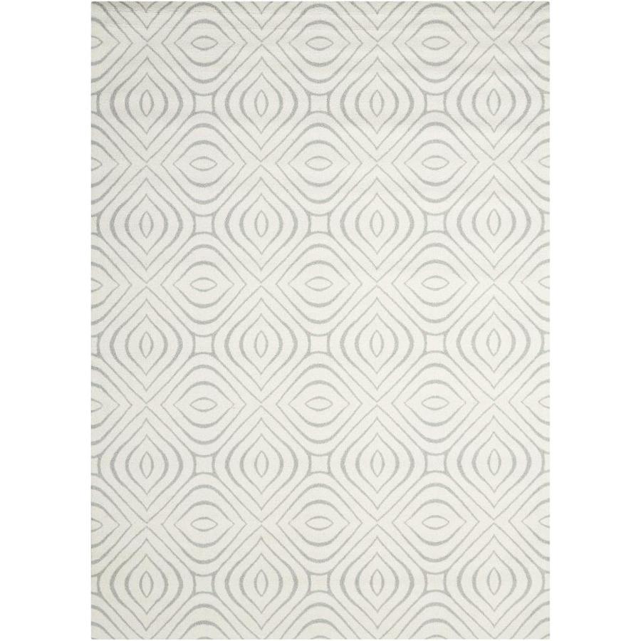 Nourison Enhance IV/Gray Indoor Area Rug (Common: 3 x 4; Actual: 2.5-ft W x 4-ft L x 0.25-ft dia)