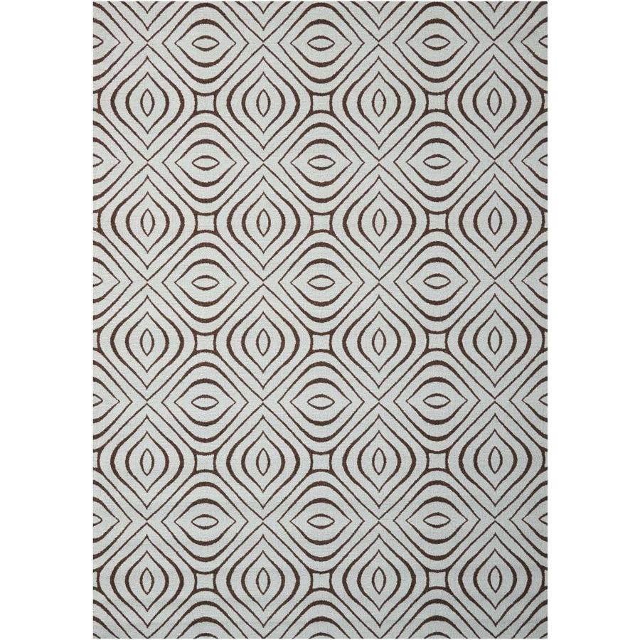 Nourison Enhance Sky Rectangular Indoor Area Rug (Common: 5 x 8; Actual: 5-ft W x 7-ft L x 0.25-ft dia)