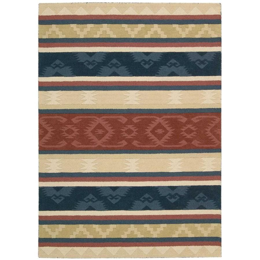 Nourison India House Multicolor Rectangular Indoor Handcrafted Area Rug (Common: 8 x 10; Actual: 8-ft W x 10.5-ft L x 0.5-ft dia)