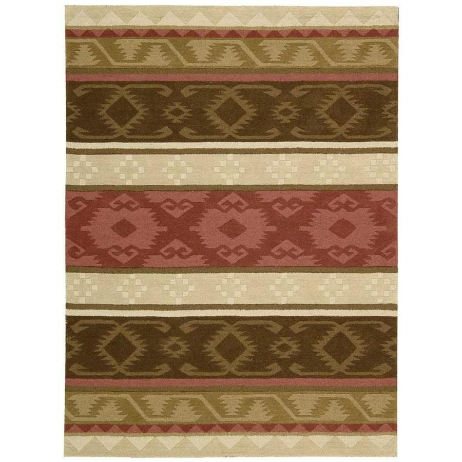 Nourison India House Espre Rectangular Indoor Handcrafted Area Rug (Common: 3 x 5; Actual: 3.5-ft W x 5.5-ft L x 0.5-ft dia)