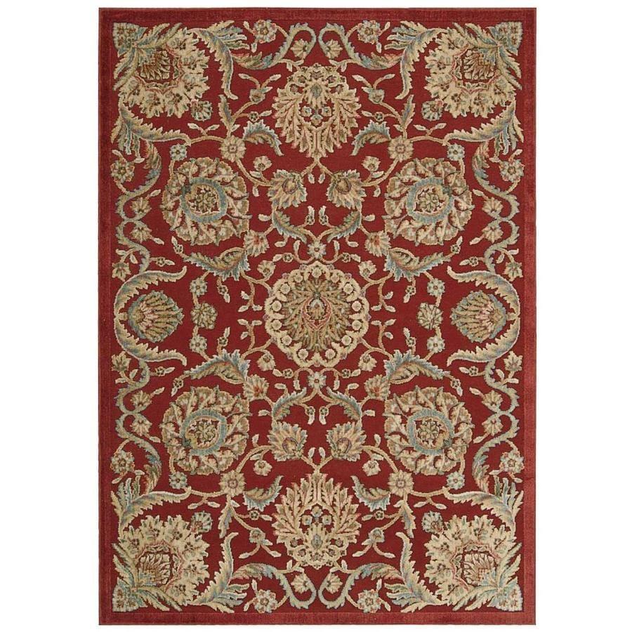 Nourison Graphic Illusions Red Rectangular Indoor Area Rug (Common: 2 x 4; Actual: 2.25-ft W x 3.75-ft L x 0.5-ft dia)