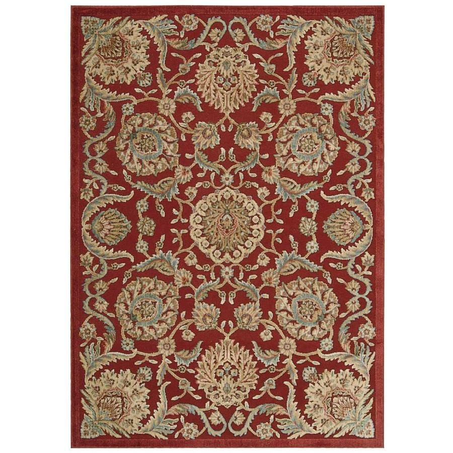 Nourison Graphic Illusions Red Area Rug (Common: 8 x 10; Actual: 7.75-ft W x 10.83-ft L)