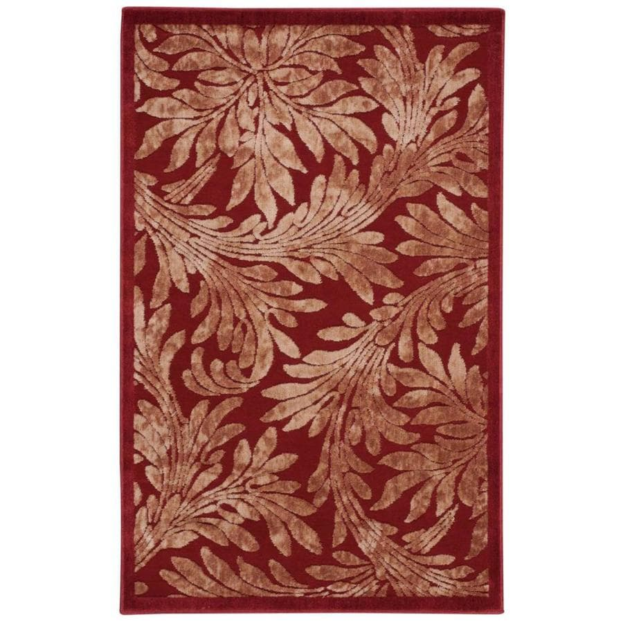 Nourison Graphic Illusions Red Indoor Area Rug (Common: 3 x 5; Actual: 3.5-ft W x 5.5-ft L x 0.5-ft dia)
