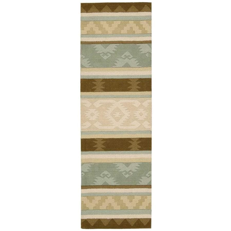 Nourison India House Sage Handcrafted Area Rug (Common: 2 x 7; Actual: 2.25-ft W x 7.5-ft L)