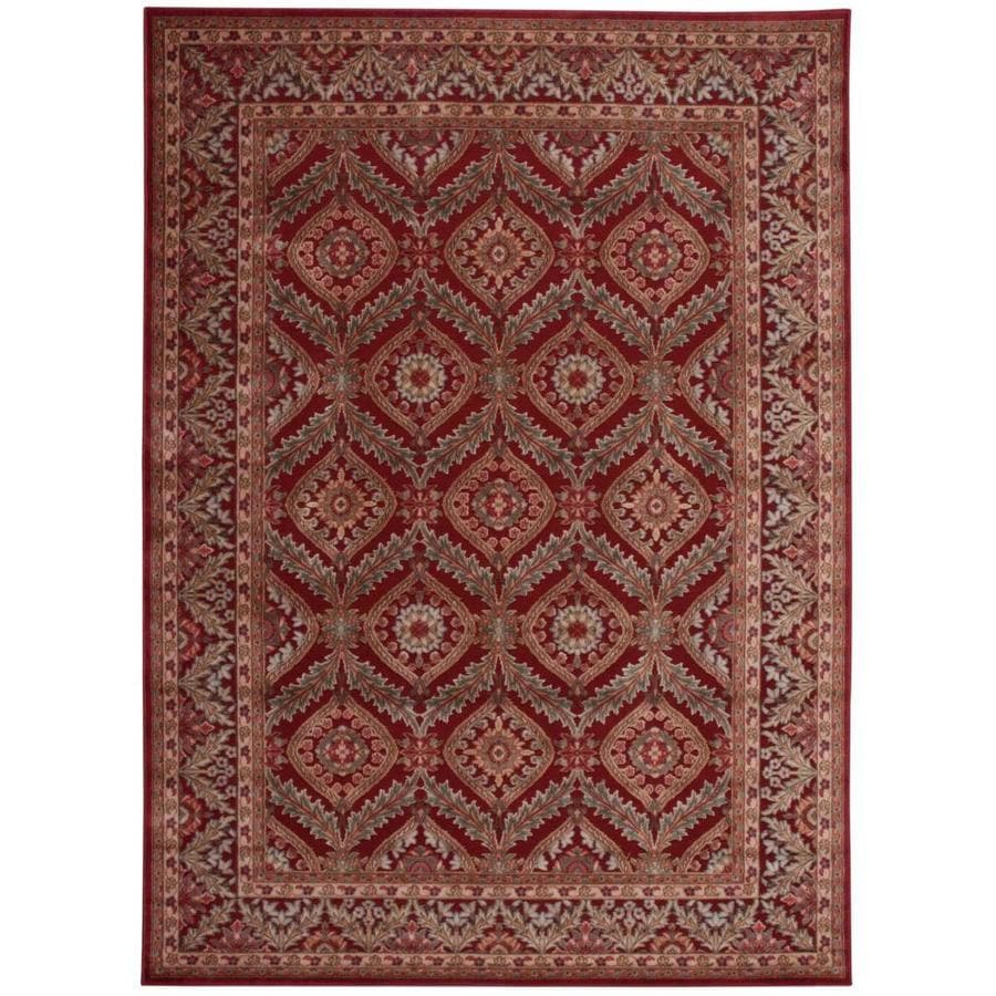 Black Graphic Woven Emerson Indoor Outdoor Area Rug: Nourison Graphic Illusions Red Indoor Area Rug (Common: 8