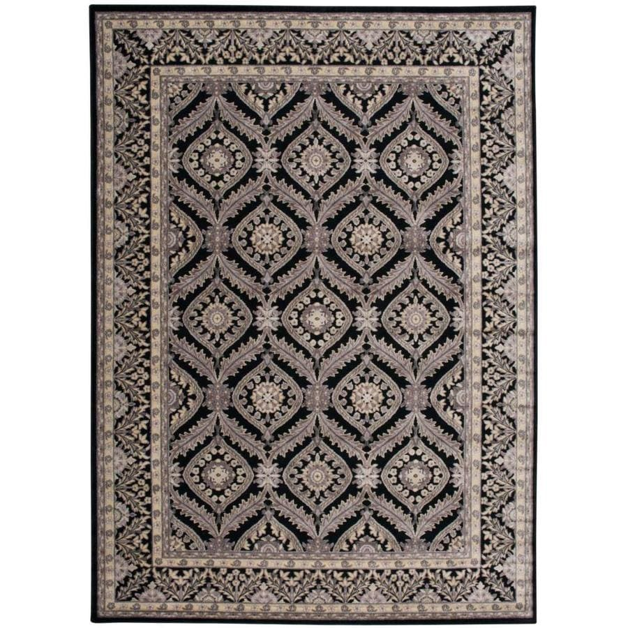 Black Graphic Woven Emerson Indoor Outdoor Area Rug: Nourison Graphic Illusions Black Indoor Area Rug (Common