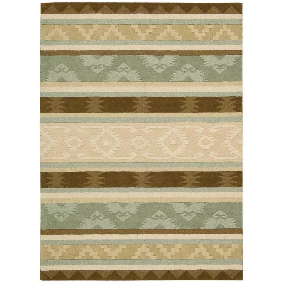 Nourison INDIA HOUSE Sage  Indoor Handcrafted Traditional Area Rug (Common: 5 x 8; Actual: 5-ft W x 8-ft L)