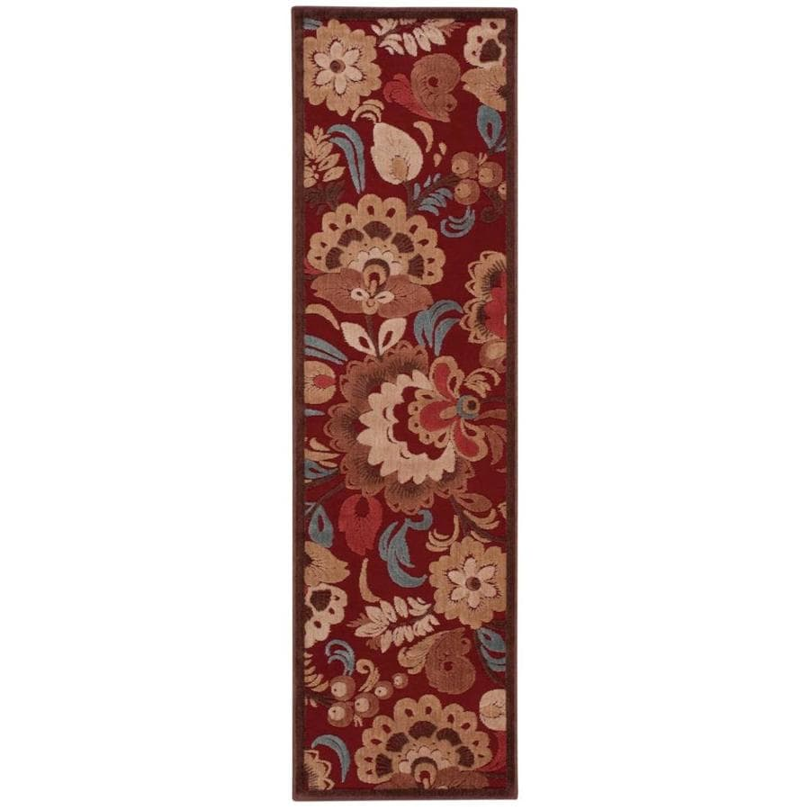 Nourison Graphic Illusions Red Area Rug (Common: 2 x 7; Actual: 2.25-ft W x 8-ft L)