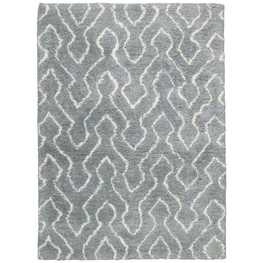 Nourison Galway Slt/IV Rectangular Indoor Handcrafted Area Rug (Common: 5 x 8; Actual: 5-ft W x 7-ft L x 1.5-ft dia)