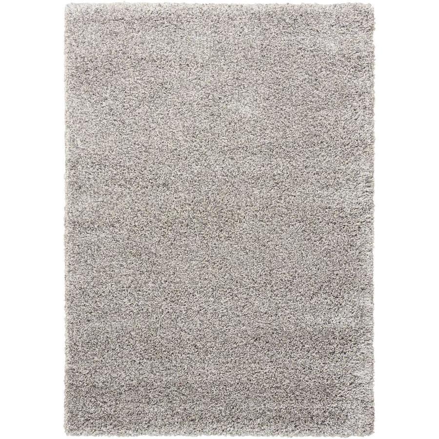 Nourison Amore Grey Rectangular Indoor Area Rug (Common: 5 x 7; Actual: 5.25-ft W x 7.42-ft L x 1.5-ft dia)