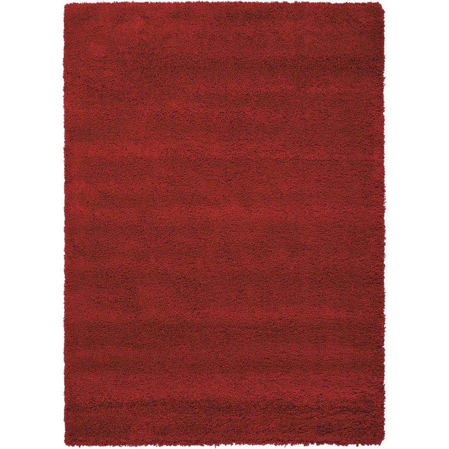 Nourison Amore Red Indoor Area Rug (Common: 5 x 7; Actual: 5.25-ft W x 7.42-ft L x 1.5-ft dia)