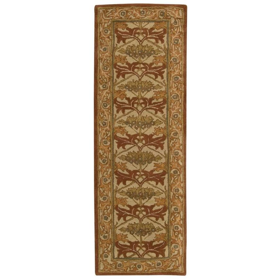 Nourison India House Beige Handcrafted Area Rug (Common: 2 x 7; Actual: 2.25-ft W x 7.5-ft L)