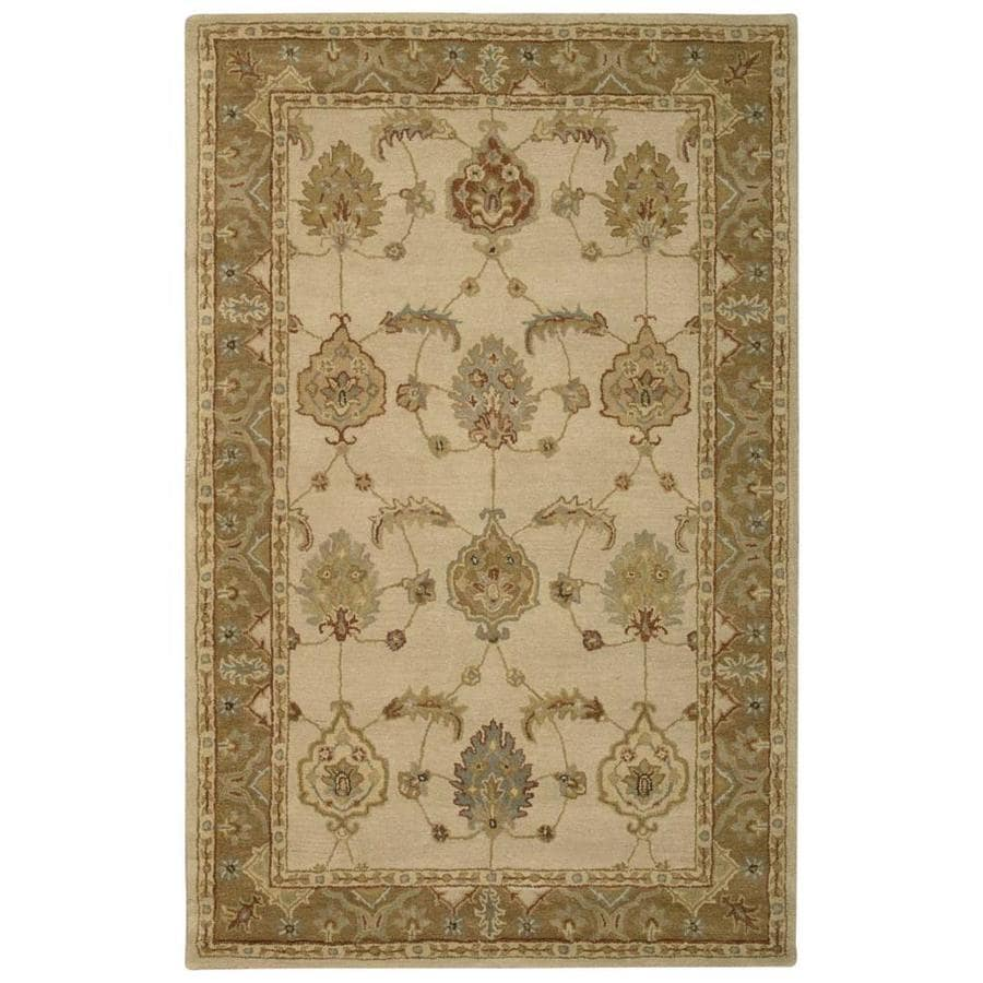 Nourison India House Ivory/Yellow Handcrafted Area Rug (Common: 5 x 8; Actual: 5-ft W x 8-ft L)