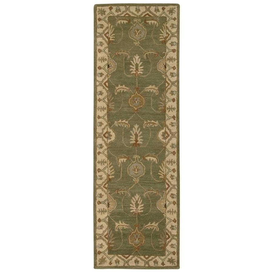 Nourison India House Kiwi Rectangular Indoor Handcrafted Area Rug (Common: 2 x 7; Actual: 2.25-ft W x 7.5-ft L x 0.5-ft dia)
