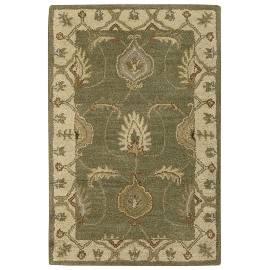 Nourison India House Kiwi Indoor Handcrafted Area Rug Common 3 X 4