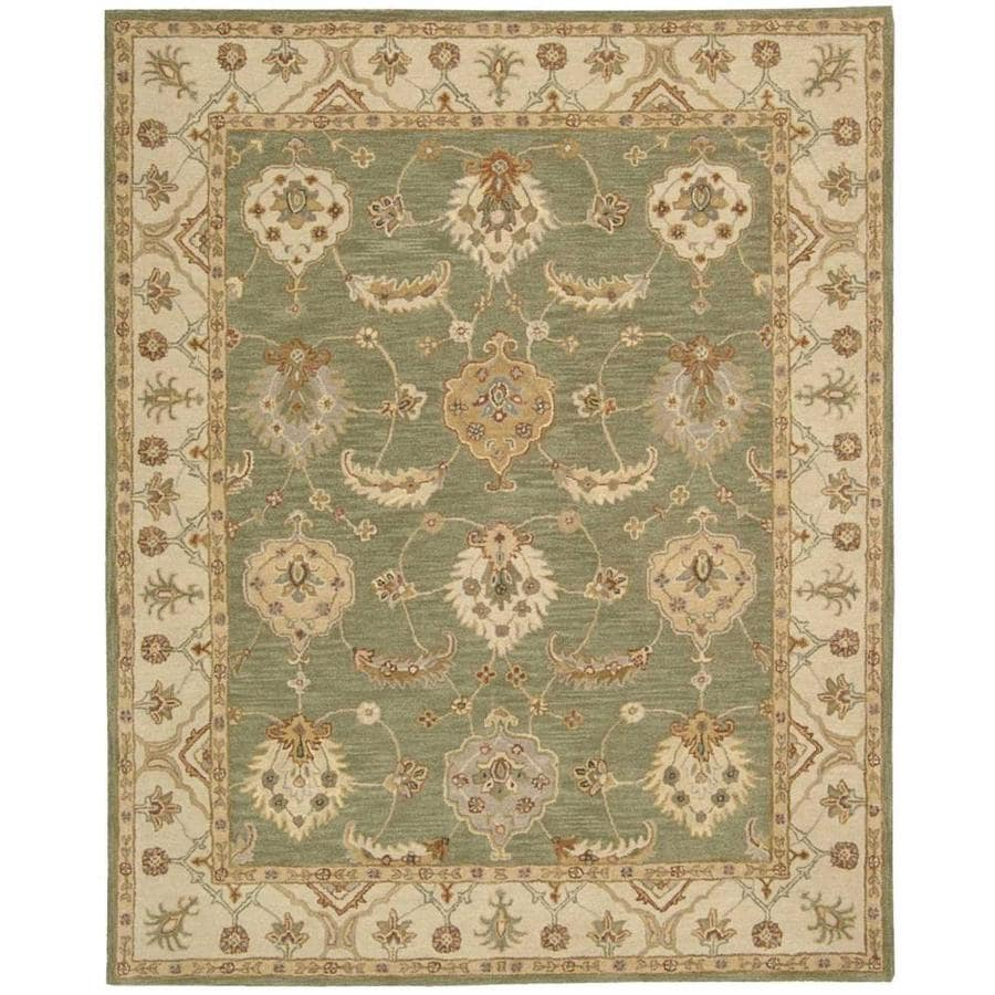 Nourison India House Kiwi Rectangular Indoor Handcrafted Area Rug (Common: 8 x 10; Actual: 8-ft W x 10.5-ft L x 0.5-ft dia)