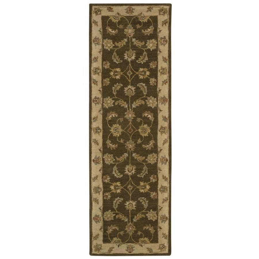 Nourison India House Mushroom Rectangular Indoor Handcrafted Area Rug (Common: 2 x 7; Actual: 2.25-ft W x 7.5-ft L x 0.5-ft dia)