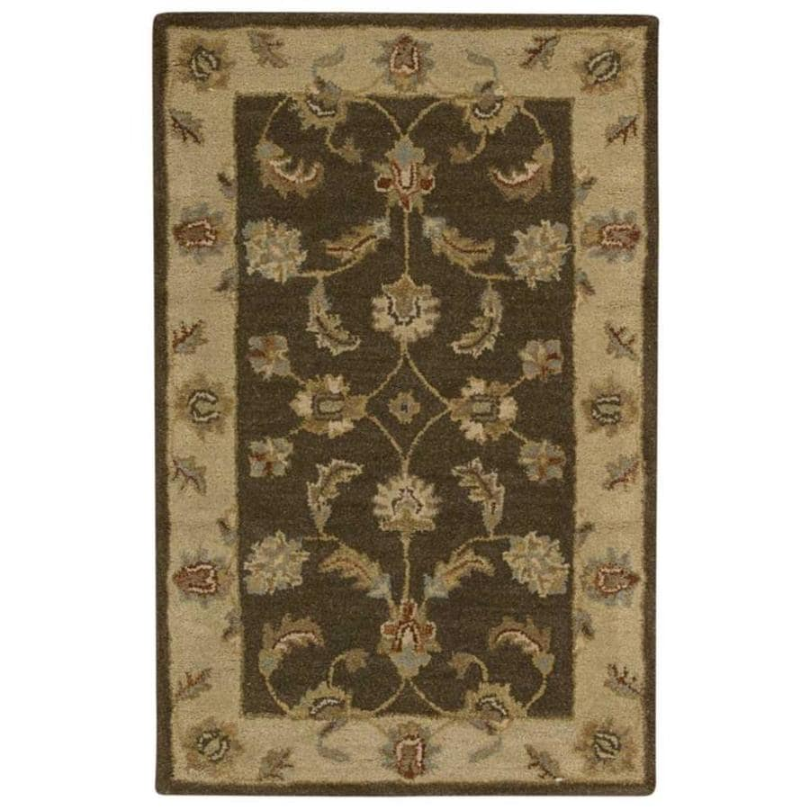 Nourison India House Mushroom Indoor Handcrafted Area Rug (Common: 3 x 4; Actual: 2.5-ft W x 4-ft L)