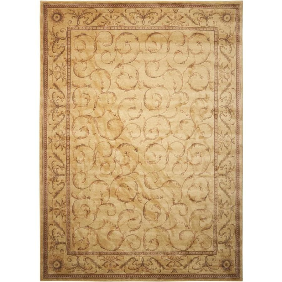 Nourison Somerset Ivory Indoor Area Rug (Common: 9 x 13; Actual: 9.5-ft W x 13-ft L x 0.5-ft dia)