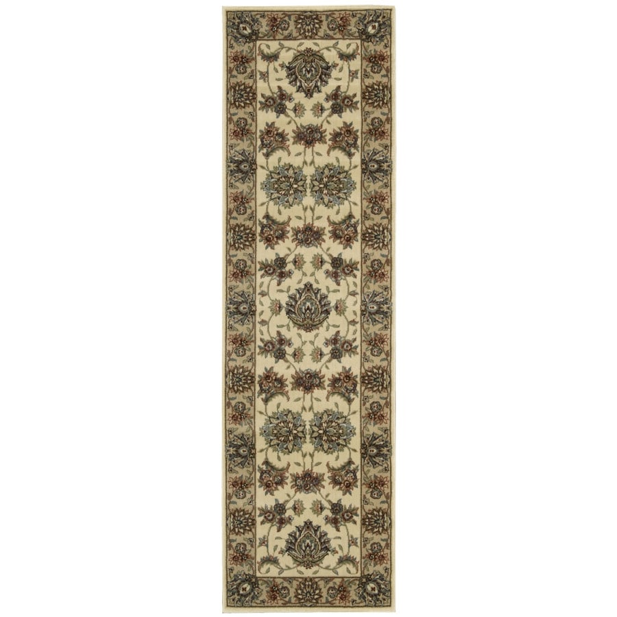 Nourison Yale Yellow Woven Runner (Common: 2-ft x 8-ft; Actual: 2.25-ft x 7.5-ft)
