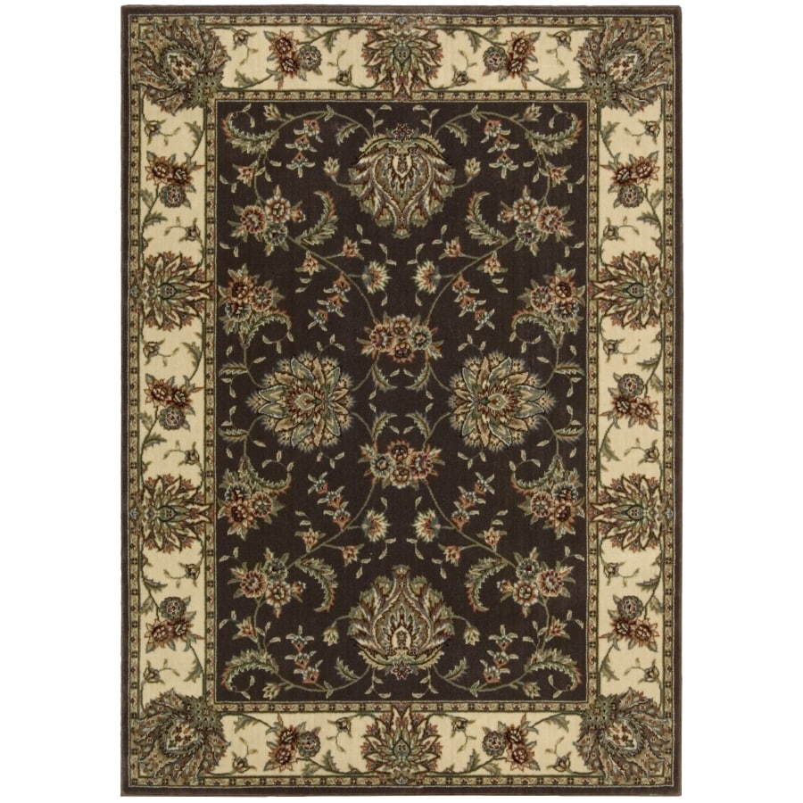 Nourison Yale Rectangular Brown Area Rug