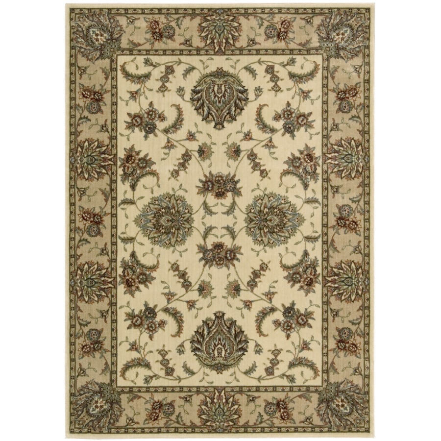 Nourison 9-ft 6-in x 13-ft Ivory Yale Area Rug